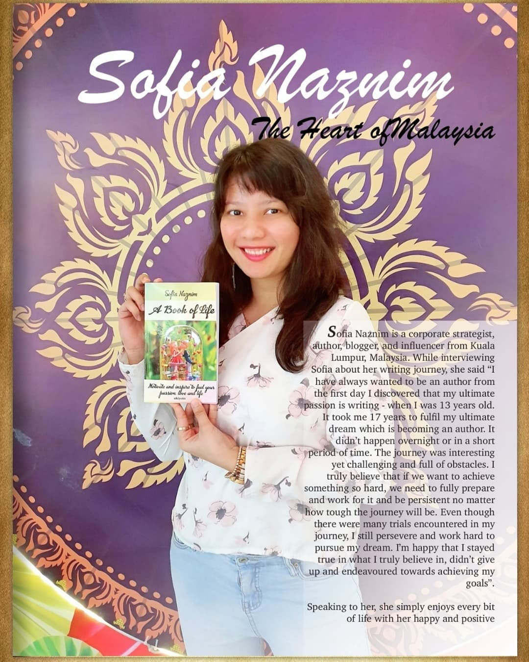 A Book of Life by Sofia Naznim Featured in the Litteratura Asia Magazine!
