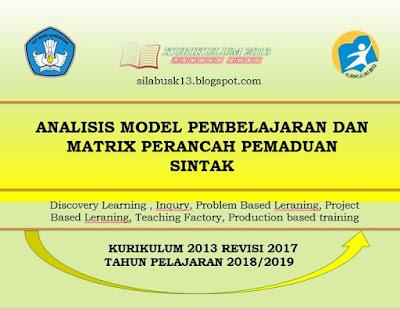 Analisis Penerapan Model Pembelajaran Dan Metrix Perancah Pemaduan Sintak Analisis Penerapan Model Pembelajaran Dan Matriks Perancah Pemaduan Sintak