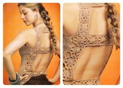 Top Espalda Cuadrada Patron tricot crochet