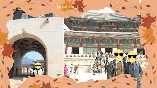 Gerbang Gwanghamun di Gyeongbokgung palace, Seoul.