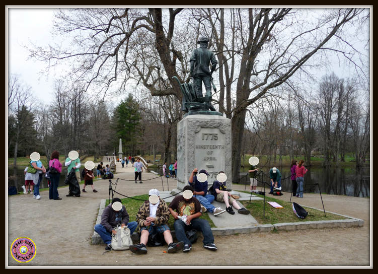 Photographs from Minute Man National Historical Park, from a field trip, in honor of Patriots' Day
