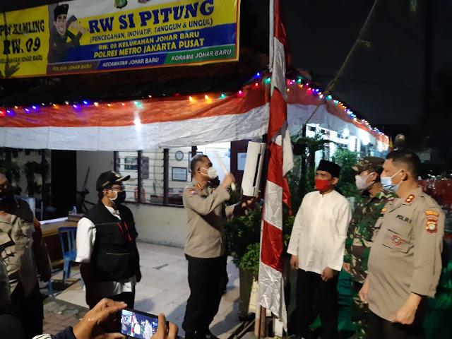 Kunjungi Kampung Tangguh Si Pitung Di Johar Baru,  Begini Harapan Dirbinmas PMJ