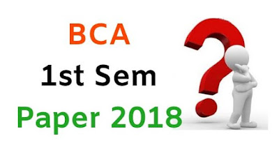 Mdu BCA 1st Sem Question Papers (With Answer) 2018
