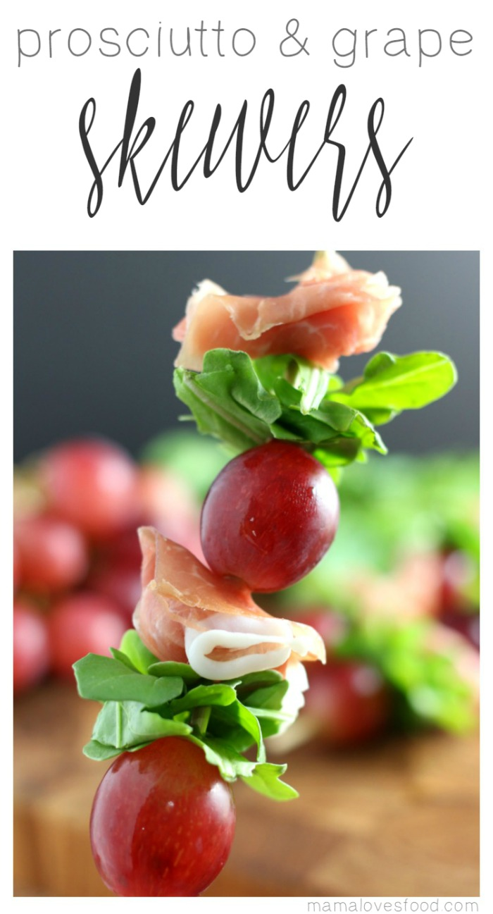 Grape and Prosciutto Skewers Appetizer Recipe