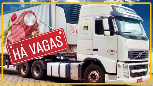 Transportadora JBS está contratando motorista carreteiro