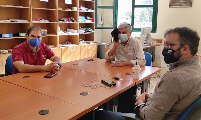 Επίσκεψη του Διευθυντή Δευτεροβάθμιας Εκπαίδευσης Αργολίδας στον Δήμο Επιδαύρου