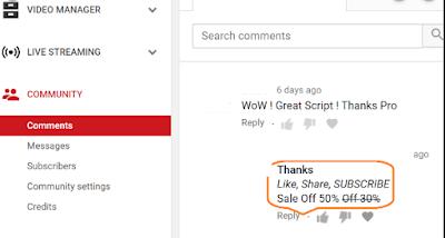 Cara Membuat Tulisan Tebal Miring dan Tercoret di Komentar Youtube