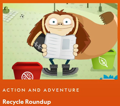 National Geographic, Recycle Roundup, Game, Kids
