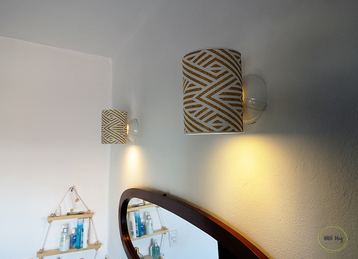 Homemade Wall Lamp : How to make a wall lamp with a tin can - Ohoh Blog