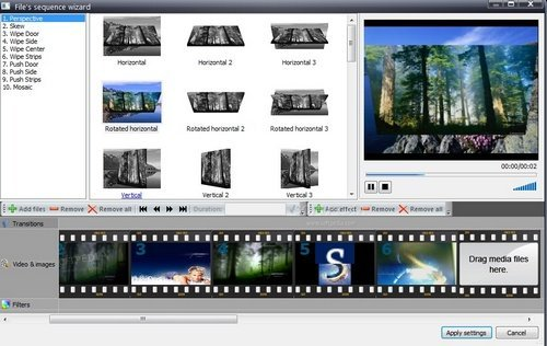 Tampilan Software VSDC Free Video Editor