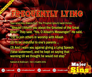 MAJOR SIN. 30.2. FREQUENTLY LYING