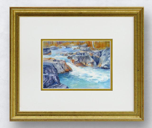 Marble Canyon British Columbia watercolor painting