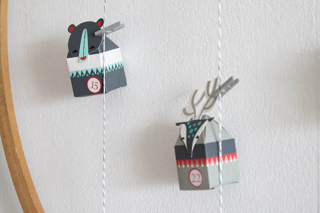 DIY tierischer Adventskalender mit IKEA Vinter 2017 Adventskranz Hula Hoop Reifen Jules kleines Freudenhaus