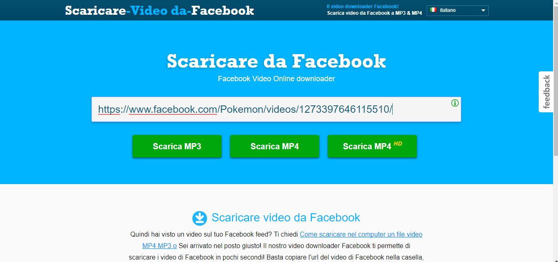 video da facebook online senza usare programmi con downfacebook