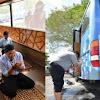 Vir4l, Bus Disulap Jadi Musalla Portable, Dilengkapi Tangki Air, Pipa Wuduk, AC, Sandal, dan Sajadah
