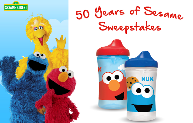 NUK USA is celebrating 50 wonderful years of Sesame Street by giving away some really terrific Sesame Street prize packages to five lucky winners!