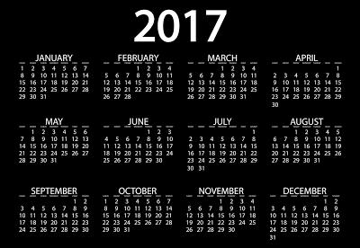 Happy New Year Calendar 2017 HD Image