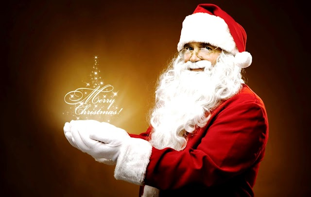 Santa Claus Specially wishing Merry Christmas to you and your family