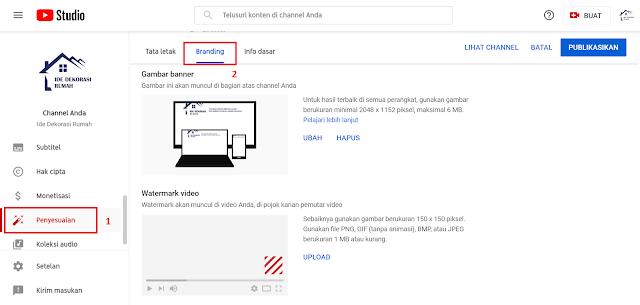Cara Menambah atau Memasang Watermark Otomatis pada Setiap Video Youtube
