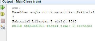 program java faktorial loop