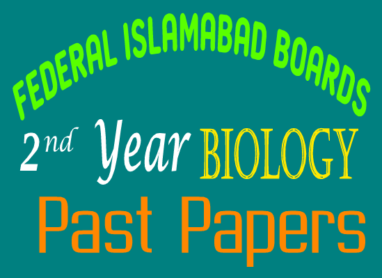 12th Class Federal Board Old Papers In PDF