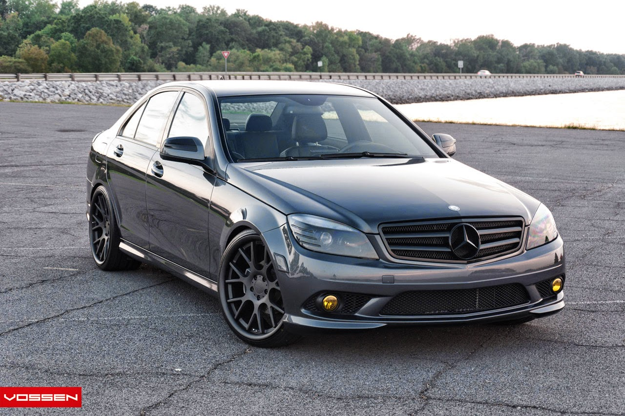 mercedes benz w204 on vossen vvs cv2 benztuning. Black Bedroom Furniture Sets. Home Design Ideas