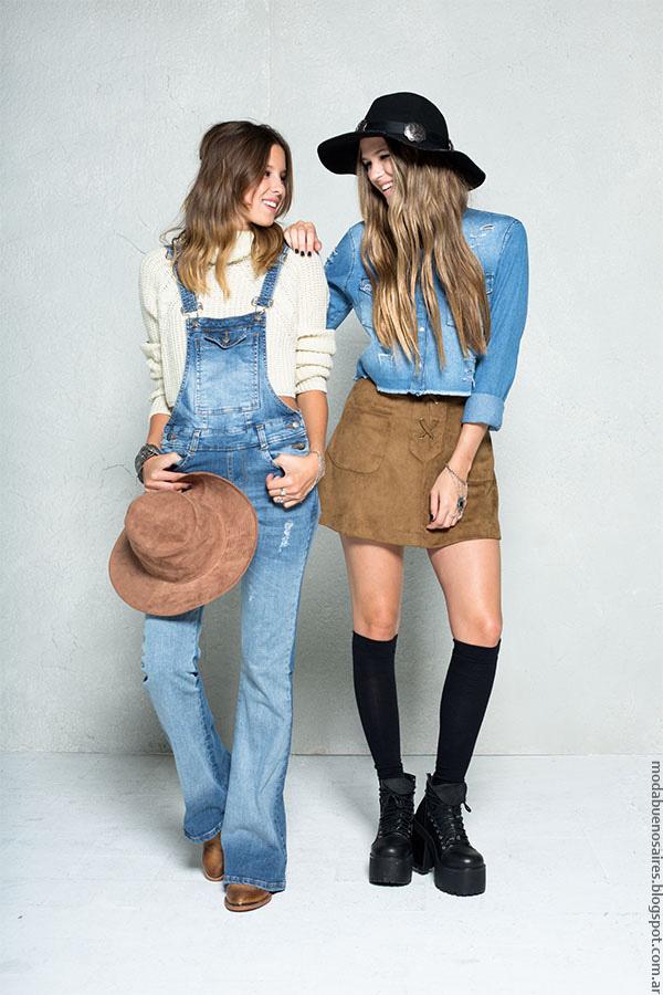 Faldas, camisas, enteritos invierno 2016. 47 Street moda invierno 2016.