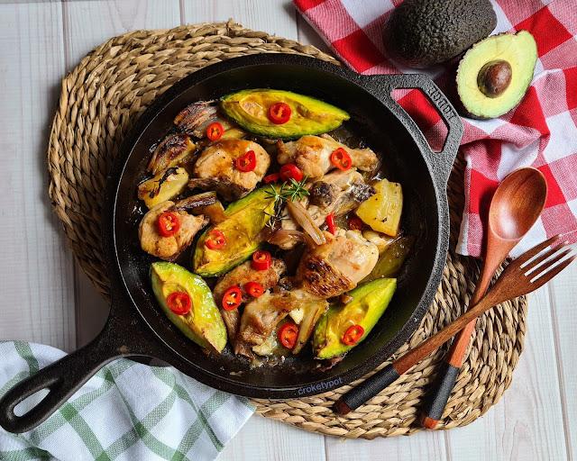 roasted avocado chicken