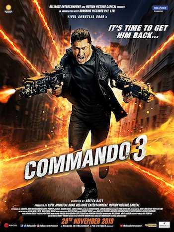 Commando 3 2019 pDVDRip Hindi 720p 900MB Watch Online Full Movie Download