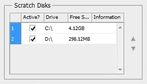 Allow Photoshop to use scratch disks
