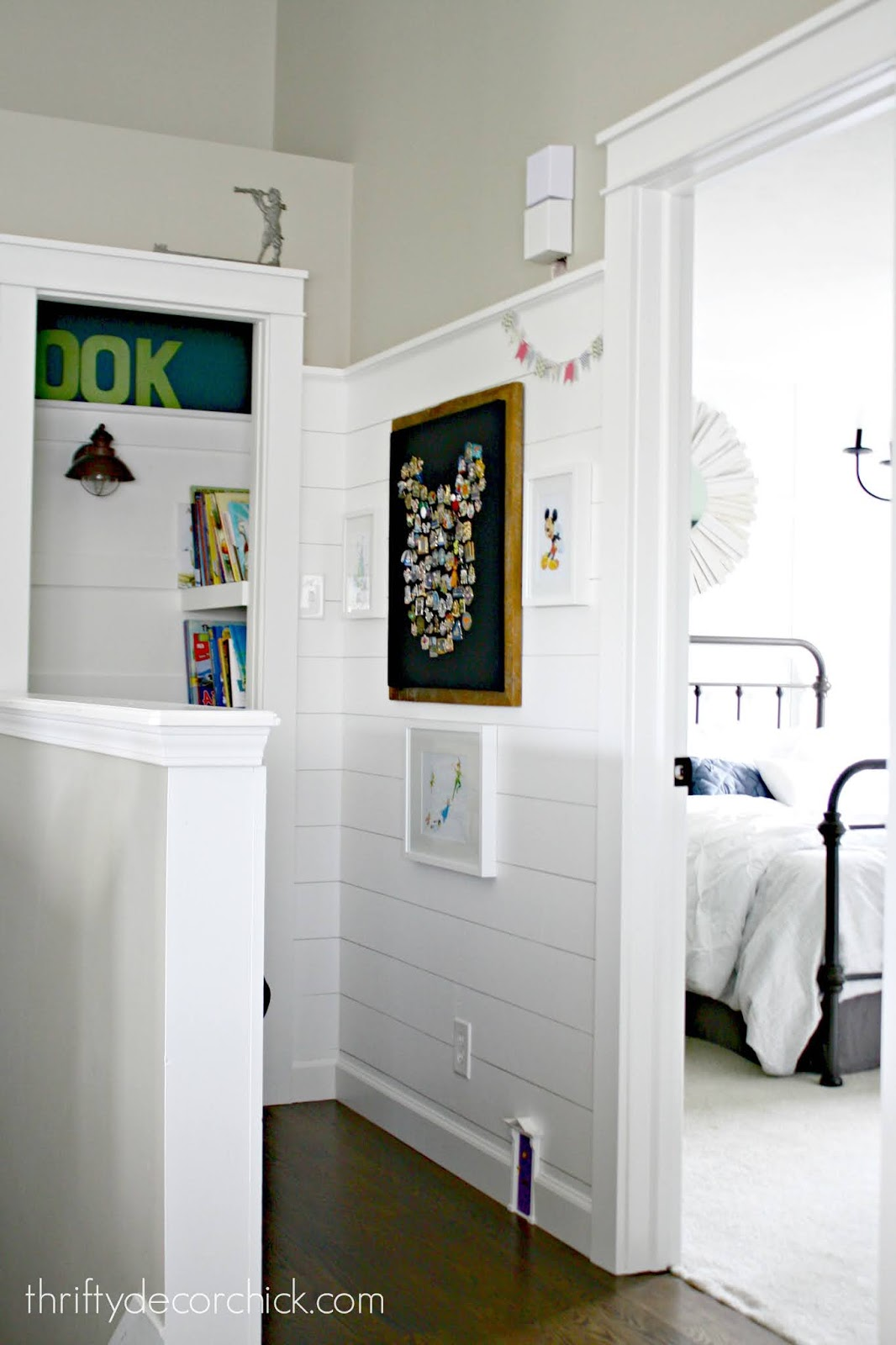 book nook closet and shiplap