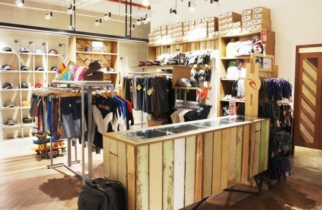 Rip Curl, Rip Curl Malaysia, Green store, recycle material boutique, going green, Rip Curl Sunway Pyramid New Eco-Friendly Interior, Australia surfwear