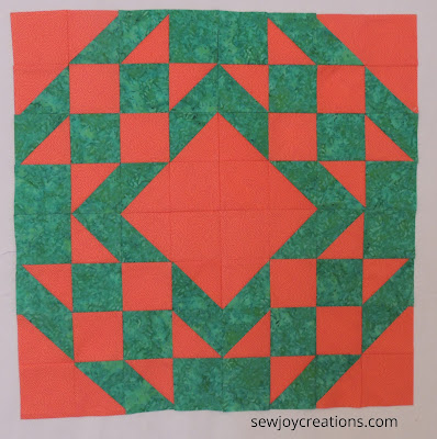 turnabout patchwork diamond star variation blocks rotated