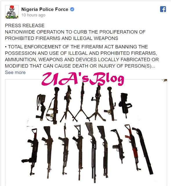 Police Bans 9 Types Of Firearms In Nigeria, To Embark On A Mass Seizure & Recovery (Full Statement)