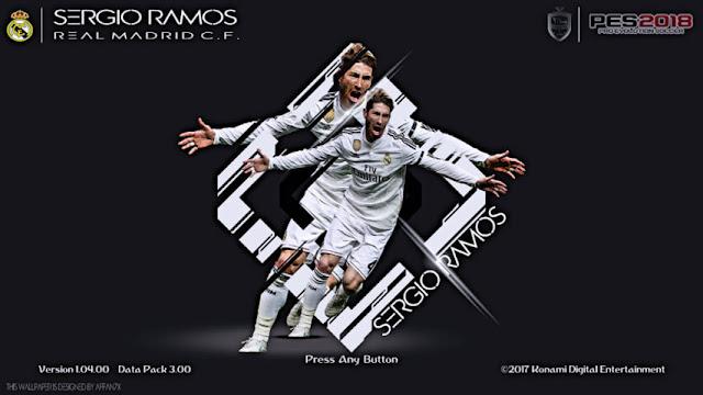 Sergio Ramos Start Screen PES 2018