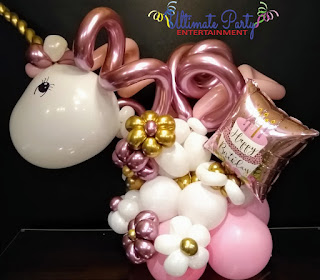cleveland - akron baby shower centerpieces - balloon decor