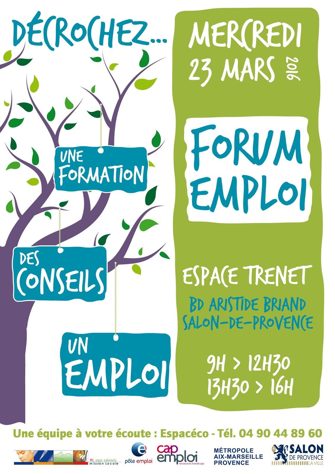 Forum emploi salon de provence le 23 mars - Mission locale portes de provence ...