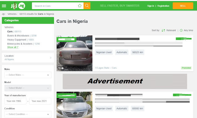 Top 7 Websites To Buy and Sell Fairly Used Cars In Nigeria