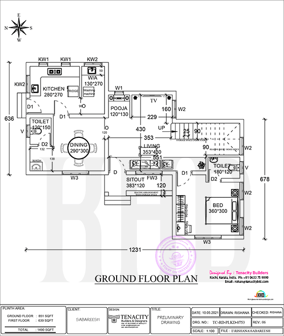 Ground floor of a Lenient house