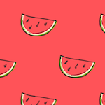red water melon paper