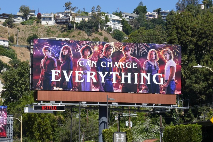 Can Change Everything Stranger Things 3 billboard