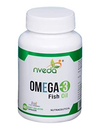 Nveda Omega 3 Fish Oil (1000 mg Omega 3, with 180 mg EPA & 120 mg DHA) (60 Softgels)