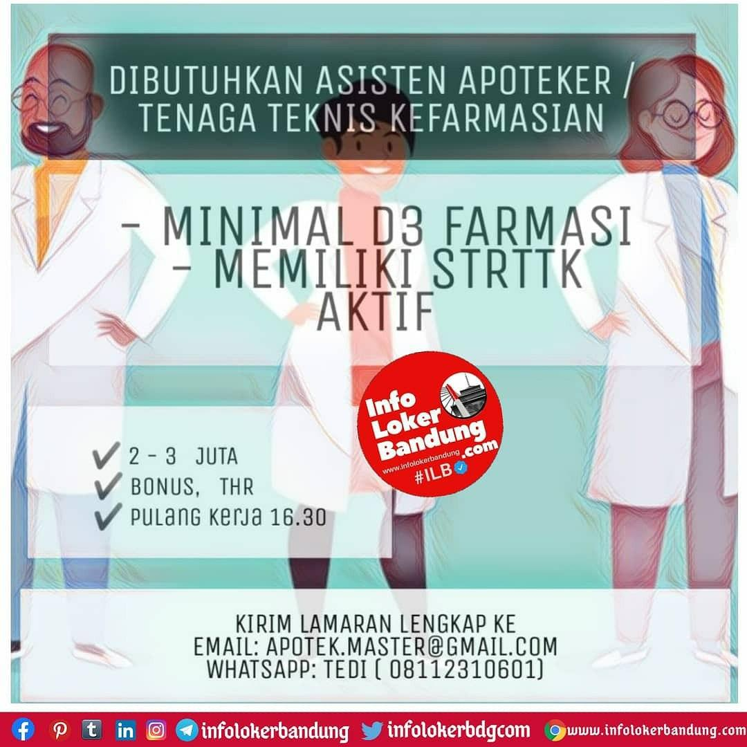 Lowongan Kerja Apotek Master Bandung Oktober 2020
