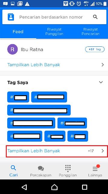 cara sembunyikan nama get contact