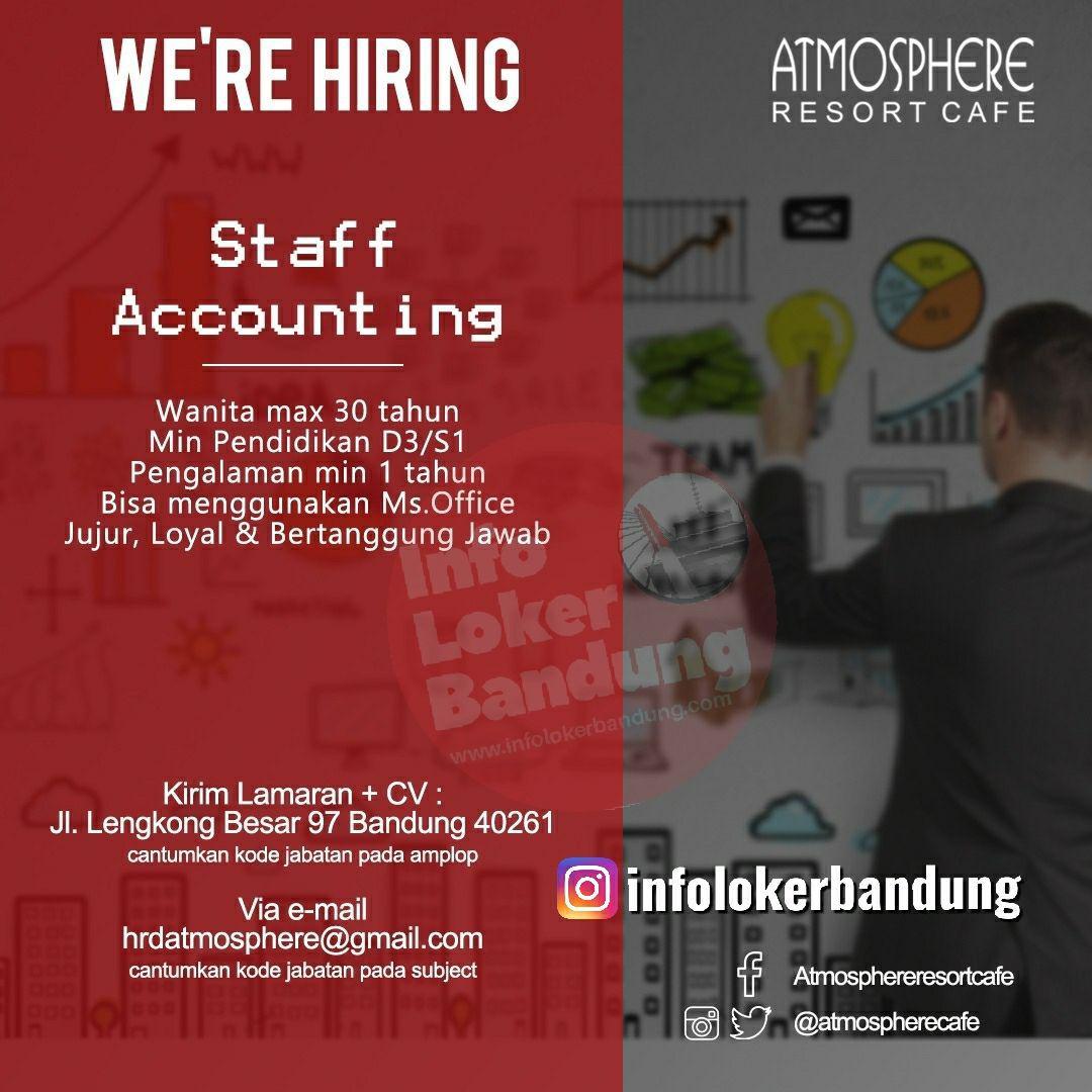 Lowongan Kerja Staff Accounting Atmosphere Resort Cafe Bandung Juni 2019