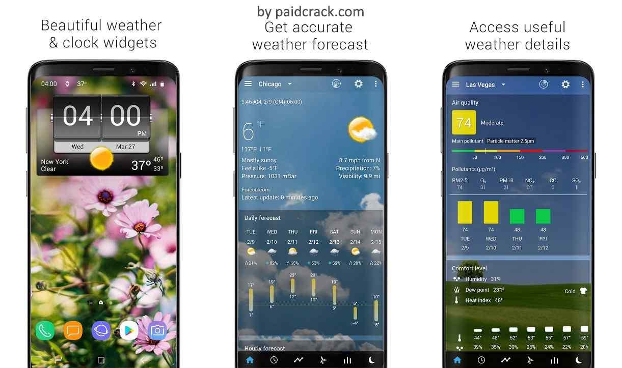 3D Flip Clock & Weather (Ad-free) Premium Mod Apk 5.87.1 [Paid]