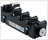 Toner zużyty w drukarce Minolta 4750dn - pojemnik trzeba okresowo wymieniać