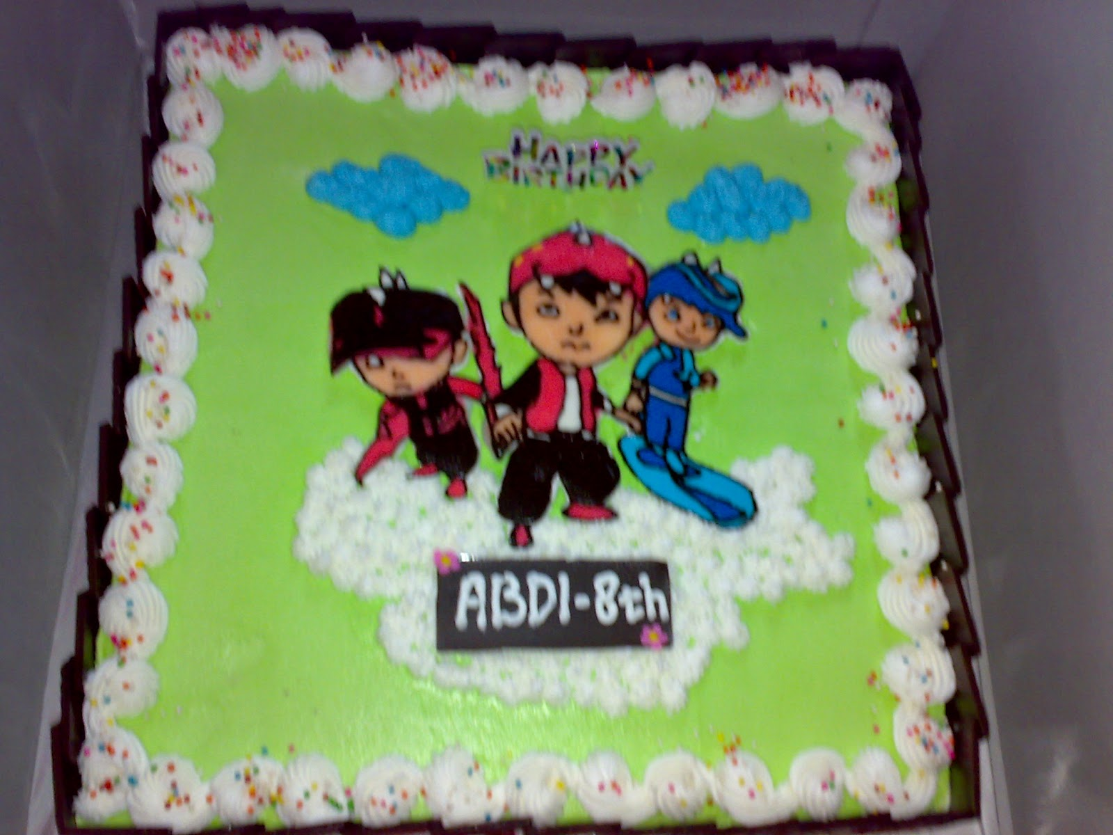 cake ulang tahun boboiboy di padang