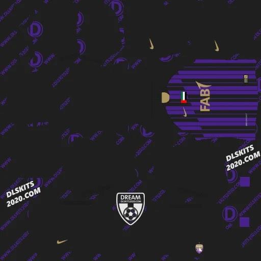 Fc Al Ain Kits 2020-2021 For Dream League Soccer 2021 by Nike (Away)