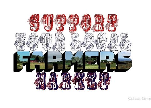 Support Your Local Farmers Market Big Letter